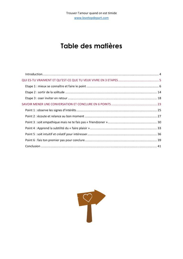 """Extrait 1 - Ebook : """"Trouver l'amour quand on est Timide"""""""