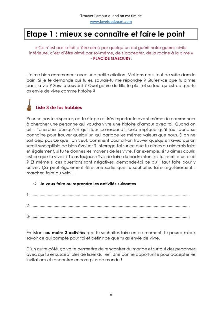 """Extrait 4 - Ebook : """"Trouver l'amour quand on est Timide"""""""